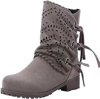 c8cc4682aca Zapatos Ronda La Plataforma Talon Plano Antideslizante en Calzado Casual Zapatos  Mujer Otoño Invierno 2018 Botas