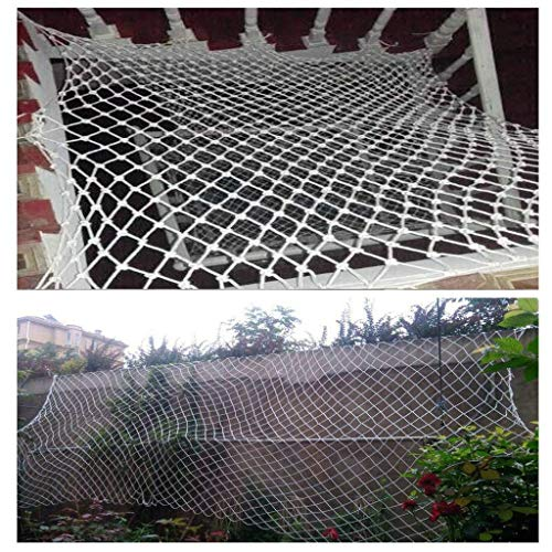 MUZILIZIYU Seguridad Red Balcony Protection Handrail Net Net, Garden Fence Net, Kindergarten Decoración Net Protección Mascota Neto Parque de Atracciones Neto Red de la Cuerda Tejida a Mano, Red