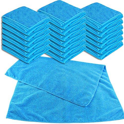Lot de 20 chiffons universels XL bleu 50 x 70 cm – 300 g/m² – Chiffon en microfibre multi-usages Chiffon de nettoyage Chiffon anti-poussière