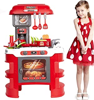 COLOR TREE 35 Piece Pretend Play Kids Kitchen Set Fun Role Play Playset for Kids(