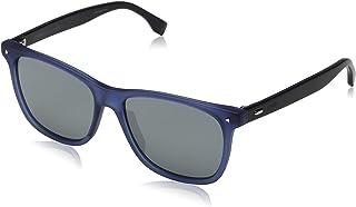 FENDI - FF M0002/S T4 PJP 55 Gafas de sol, Azul (Bluette/Grey Grey), Hombre