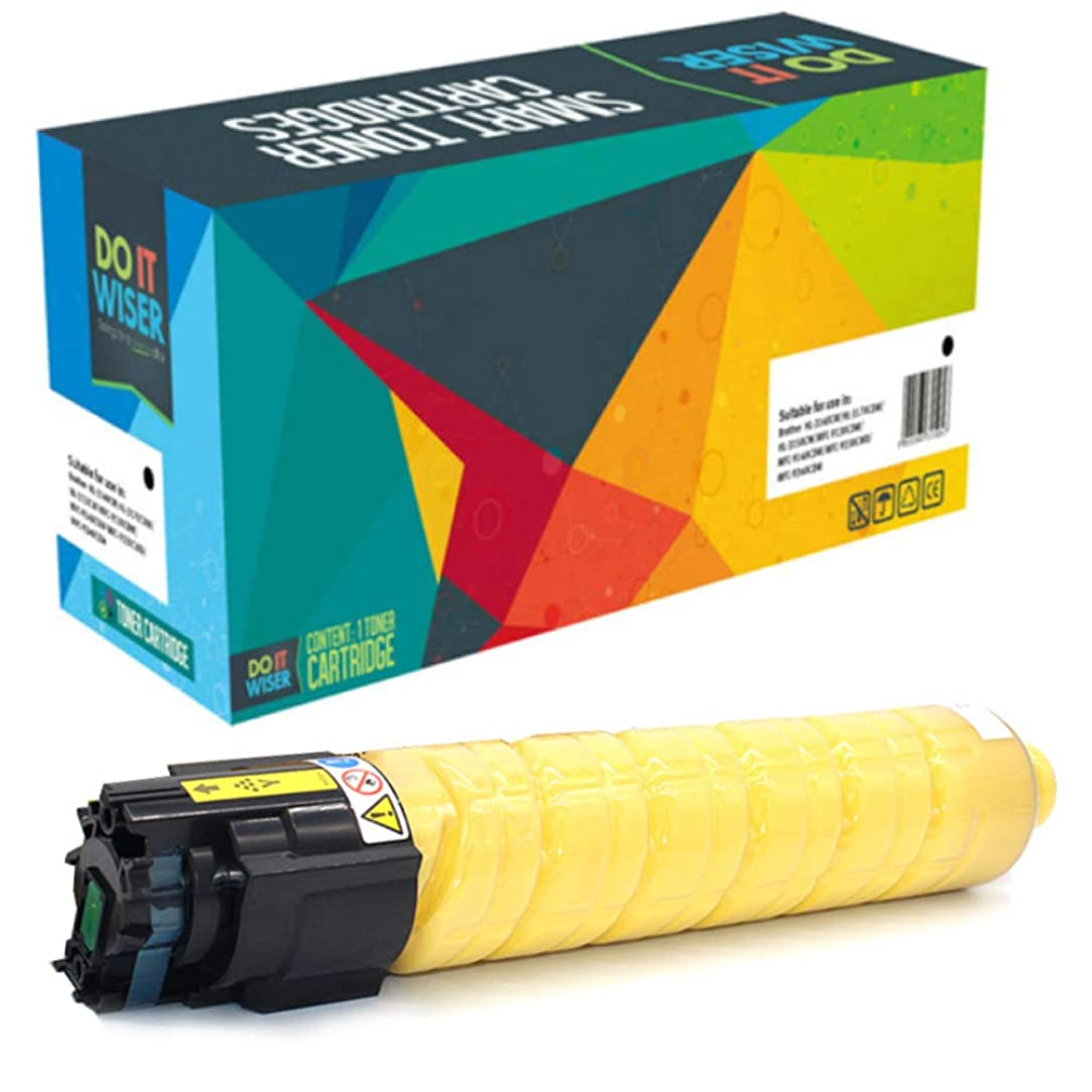 Do it Wiser Compatible Toner Cartridge Replacement for Ricoh Aficio SP C830DN SP C831DN | 821182 821118 (Yellow)