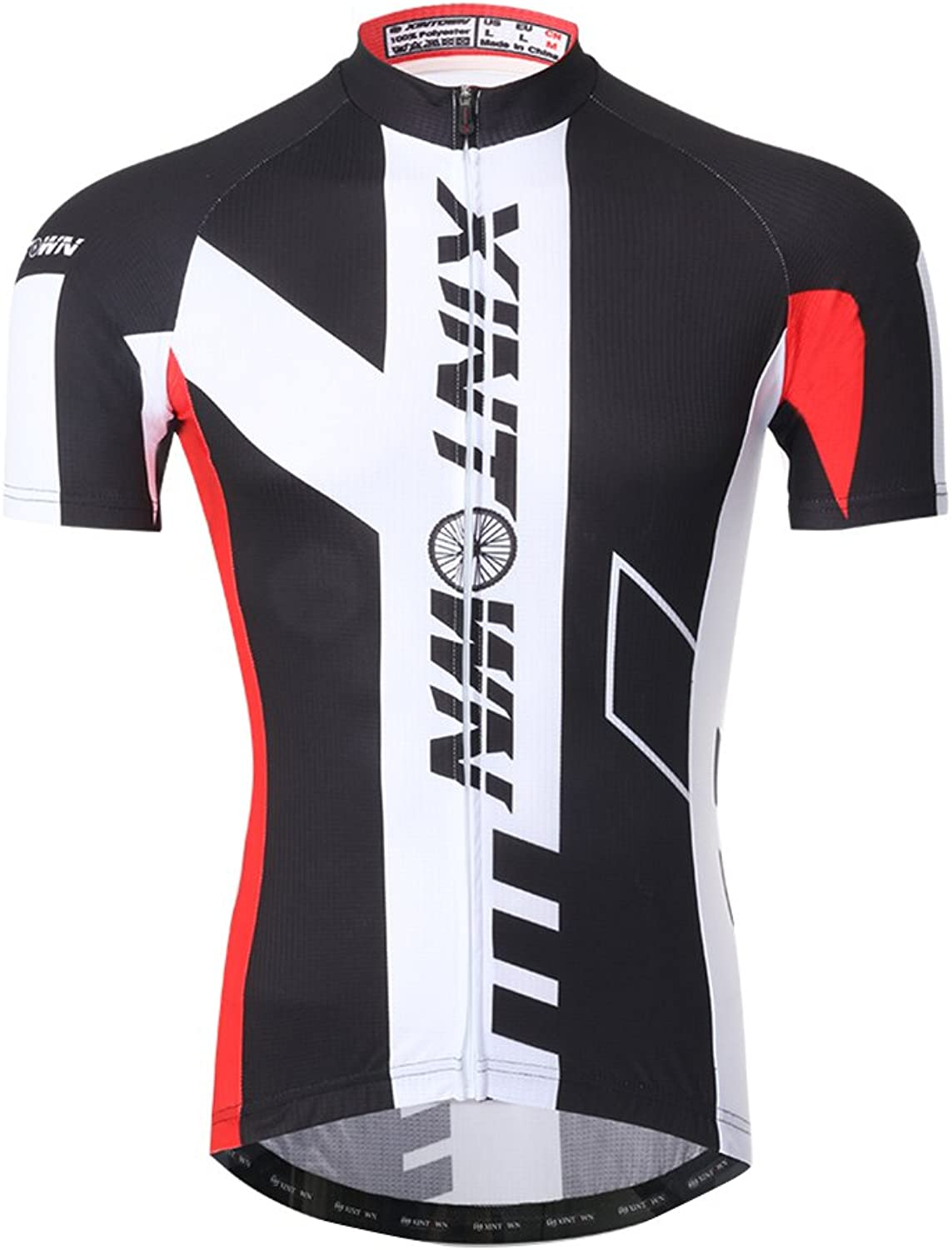 Nawing Cycling Jersey Men, Summer Indoor Sport Black Cycle Compression Shirt