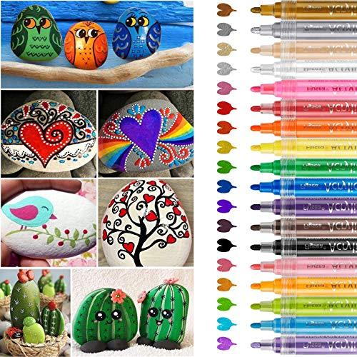 Rotuladores de pintura acrílica, RATEL 18 colores Prima Imp