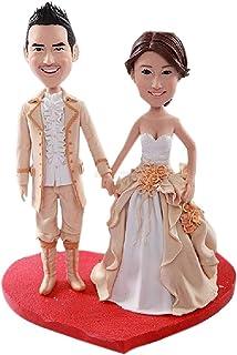 Figurine di argilla personalizzate Bobble Head Topper di nozze reali medievali basate sulle foto dei clienti usando come r...