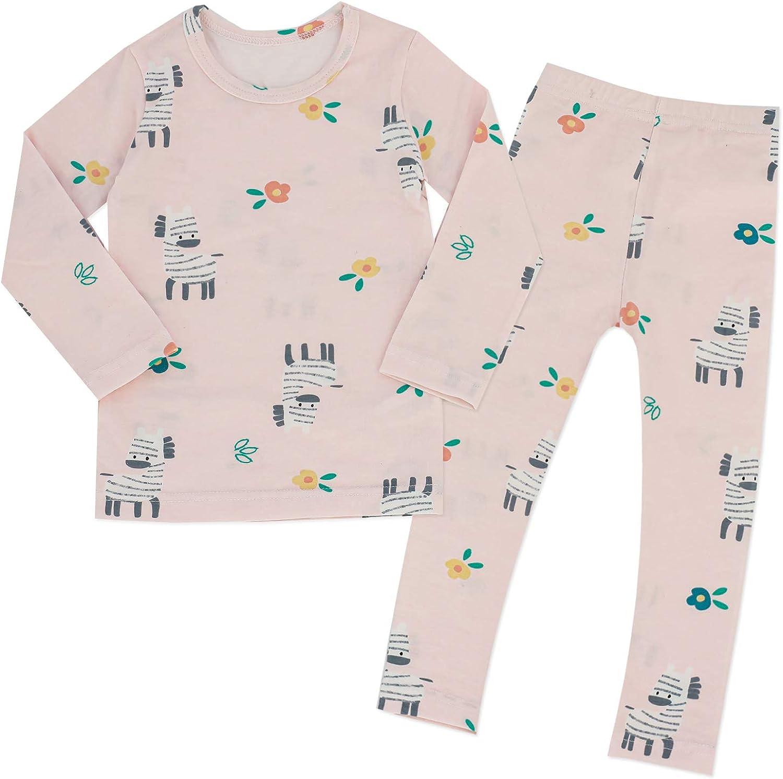 MiNi-K Baby Boys Girls Kids Pajama Set Toddler Snug fit Cotton Sleepwear pjs Set for Daily