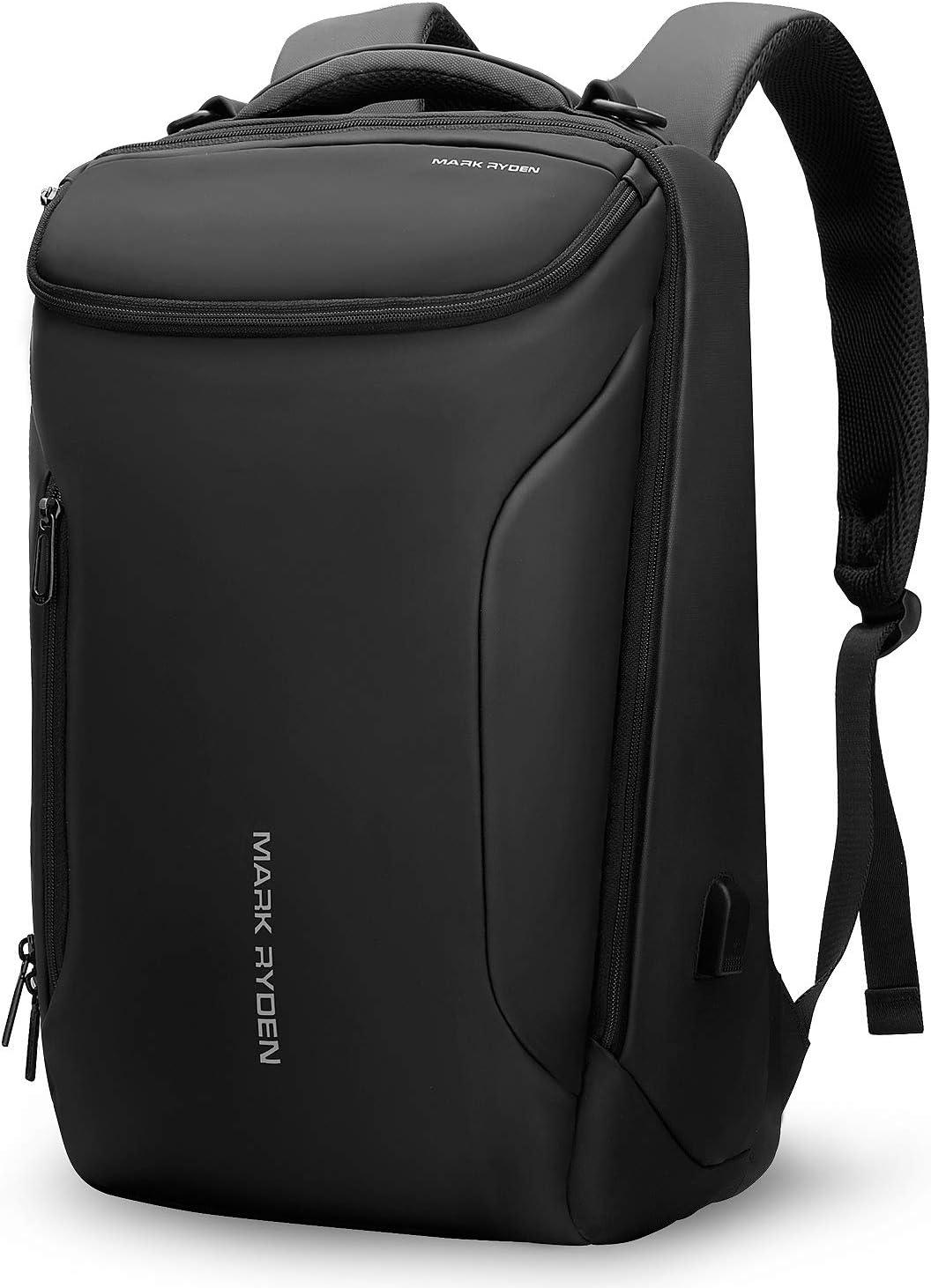 Markryden Water repellent Business laptop Backpack for School Travel Work Fits 17.3 Laptop (YKK-2 Pocket)