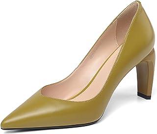 [チカル] CHICULL レディース パンプス ハイヒール ポインテッドトゥ 手造り レディース靴 おしゃれ 走れる 美脚パンプス 8cm ヒール シューズ 牛革 レザー 本革 オフィス カジュアル 通勤 ビジネス フォーマル 歩きやすい