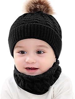 XingYue Direct Neugeborenes Baby Häkeln Strickmütze Halstuch Kleinkind Kinder Junge Mädchen Kleinkind Winter Warme Gemütliche Mütze Schal Anzug