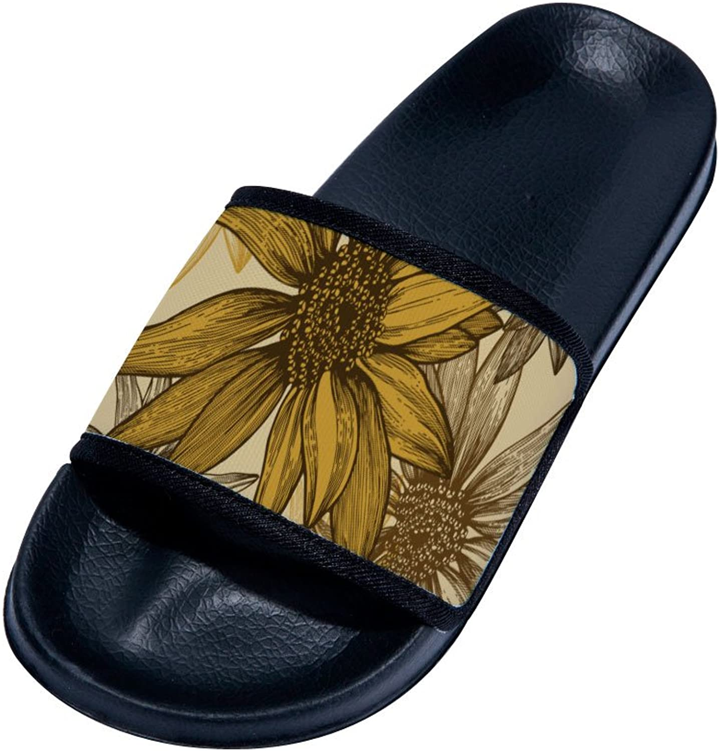 Buteri Sunflowers Summer Breathable Quick-Drying Non-Slip Slippers