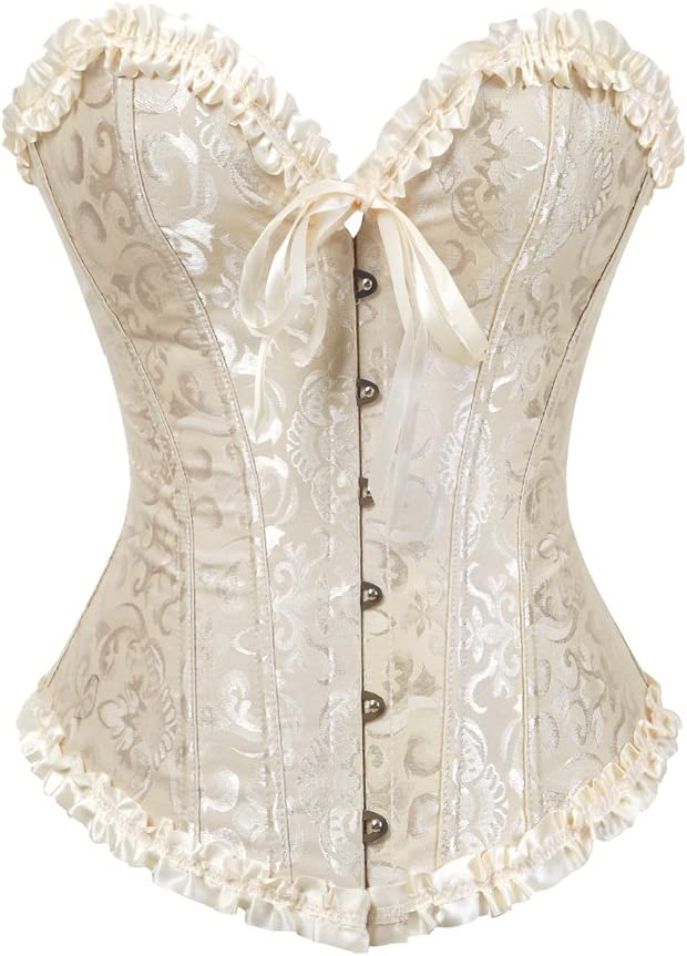 Victorian Corsets – Old Fashioned Corsets & Patterns Women Lace up Back Sexy Floral Corset for Women Lingerie Bustier Top Plus Size  AT vintagedancer.com