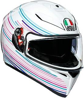 AGV K3 SV Sakura Adult Street Motorcycle Helmet - White/Purple� / Medium/Large