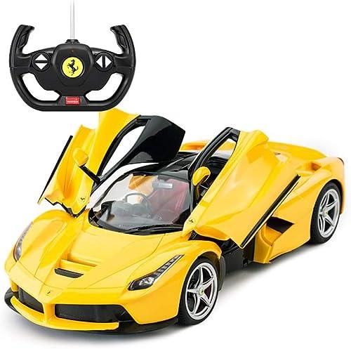 diseños exclusivos LIUFS-Coche LIUFS-Coche LIUFS-Coche De Aleación Aleación De Modelo De Coche De Control Remoto De Juguete De Coche 1 14 La Ferrari Boy Regalo (Color   amarillo)  100% autentico
