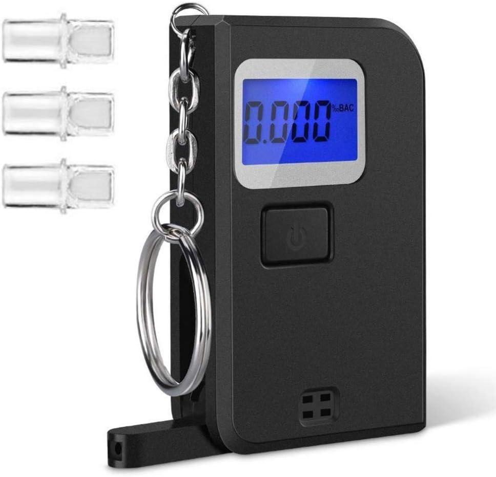 JiuXiuHeiShan-MY Max 52% OFF Alcohol High material Tester Portable Chain Key LCD Detector