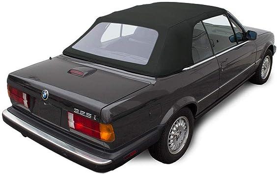 Amazon Com Fits Bmw 3 Series E30 Convertible Soft Top 1987 1993 325i 320i 318i M3 Black Twill Vinyl Automotive