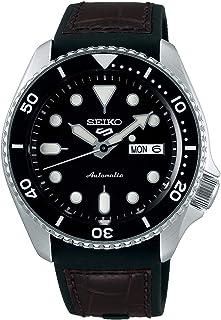 ساعة 5 فيس ليفت مقاومة للماء حتى ضغط 10 بار مزودة بتقويم وقرص ساعة اسود من سيكو SRPD55K2