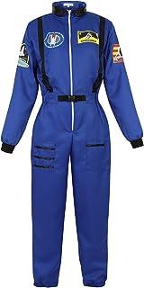 Zhitunemi Adult Halloween Astronaut Costume for Women Dress Up Clothes Space Fancy Jumpsuit Cosplay Onesie Costume