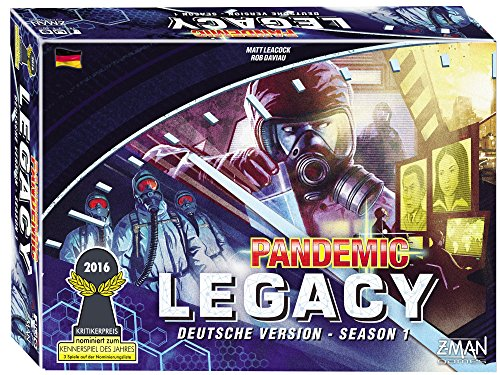 Z-Man Games 691170 Pandemic Legacy Season 1 blau