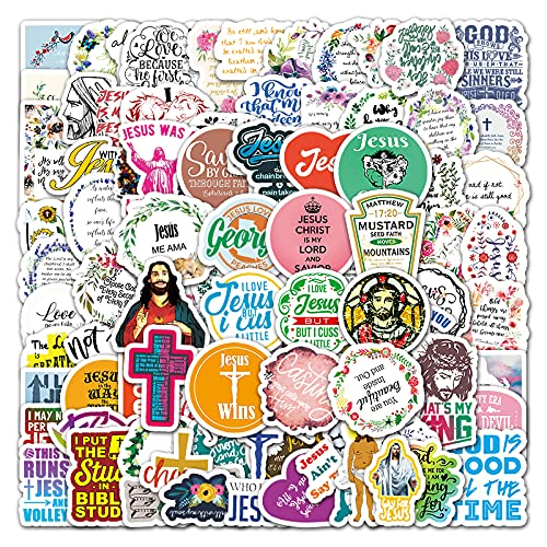 YZFCL Christ English Cartoon Graffiti Sticker Suitcase Laptop Car Scooter Decorative Sticker 100pcs