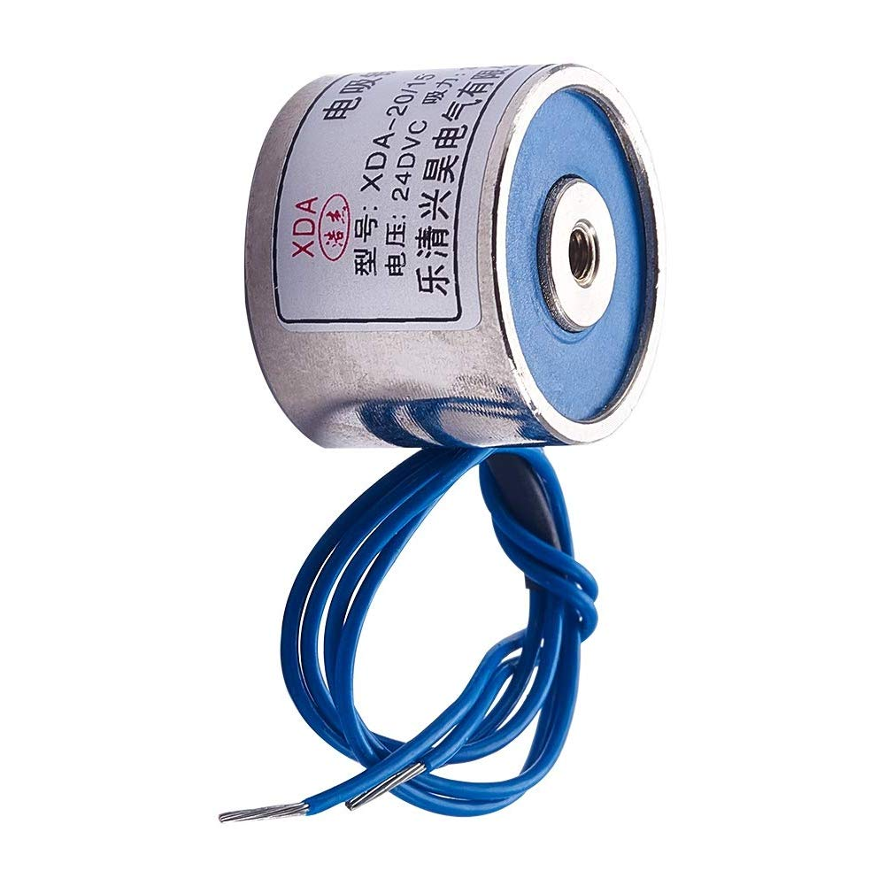 Heyiarbeit DC 24V 1.2W 6.61LB Electric Lifting Magnet Solenoid C