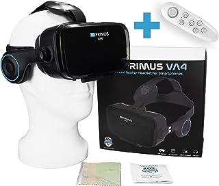 VR Primus® VA4, Casque VR avec écouteurs et Google Cardboard Apps. Compatible avec iPhone X XS et Smartphones Android à 6....