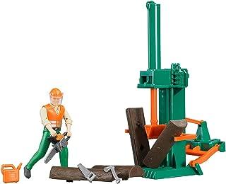 Bruder Bworld Logging Set with Man