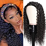 UNice Hair 10A Jerry Curly Human Hair Half Wig for Black Women Unprocessed Brazilian Virgin Hair Glueless Non Lace Front 3/4 Head Wigs Clip In Hair Extensions 18 inch