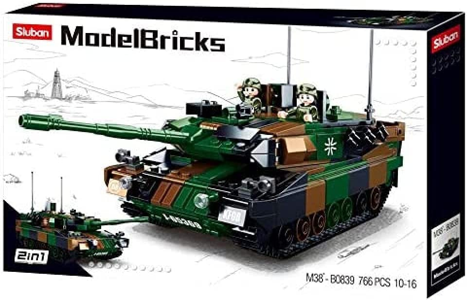 Sluban M38-B0839 Modelbricks-Leopard 2a5 Purchase Tank 2in1 Main Dealing full price reduction Battle