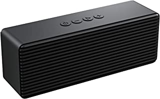 Bluetooth Speaker,Portable Wireless Speakers with HD Sound,Longer Playtime, Built-in Mic for iPhone/Samsung/Andriod/PC/Laptop Ehco dot Support USB/TF Card/AUX(Black)