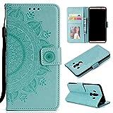 LODROC Cover Huawei [Mate 10 PRO] Flip Cover Custodia Protettiva Caso Libro in Pelle PU con Portafoglio, Funzione Supporto, Chiusura Magnetica per Huawei Mate10 PRO - LOHH0500867 Verde