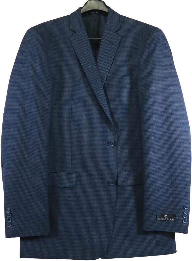 Jean-Paul Germain Extra Big Portly Executive Long Navy Check Sport Coat