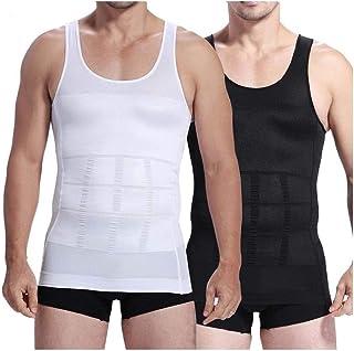 Mens Slimming Body Shaper Undershirt Vest Shirt Abs Abdomen Shaperware