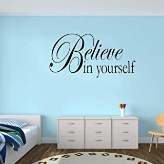 Wall Sticker Believe In Yourself Wall Quote Art Living Room Pvc Wall Sticker 50X26Cm