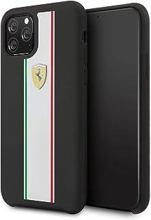 CG Mobile Ferrari Fespihcn58Bk On Track & Stripes Silicone Case for iPhone 11 Pro. (Black)