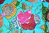 Exclusivo Jaipuri Impreso 100% Tejido de algodón Tejido de confección Artesanía Tejido de algodón Art Work Tejido de algodón Medidor de tela de 2,5 metros para coser tela india por metro
