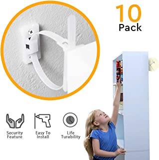 Furniture Straps,Wall Anchor, Baby ProofingAnti Tip Furniture Anchor Kit,Cabinet Wall Anchors Protect Children's and Pets,Best Adjustable Earthquake Resistant Strap Bearing 132Ib, Nylon Straps