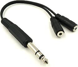 Poyiccot 6.35mm 1/4 inch TRS Stereo Jack Male to 2 Dual 3.5mm (Mini) 1/8
