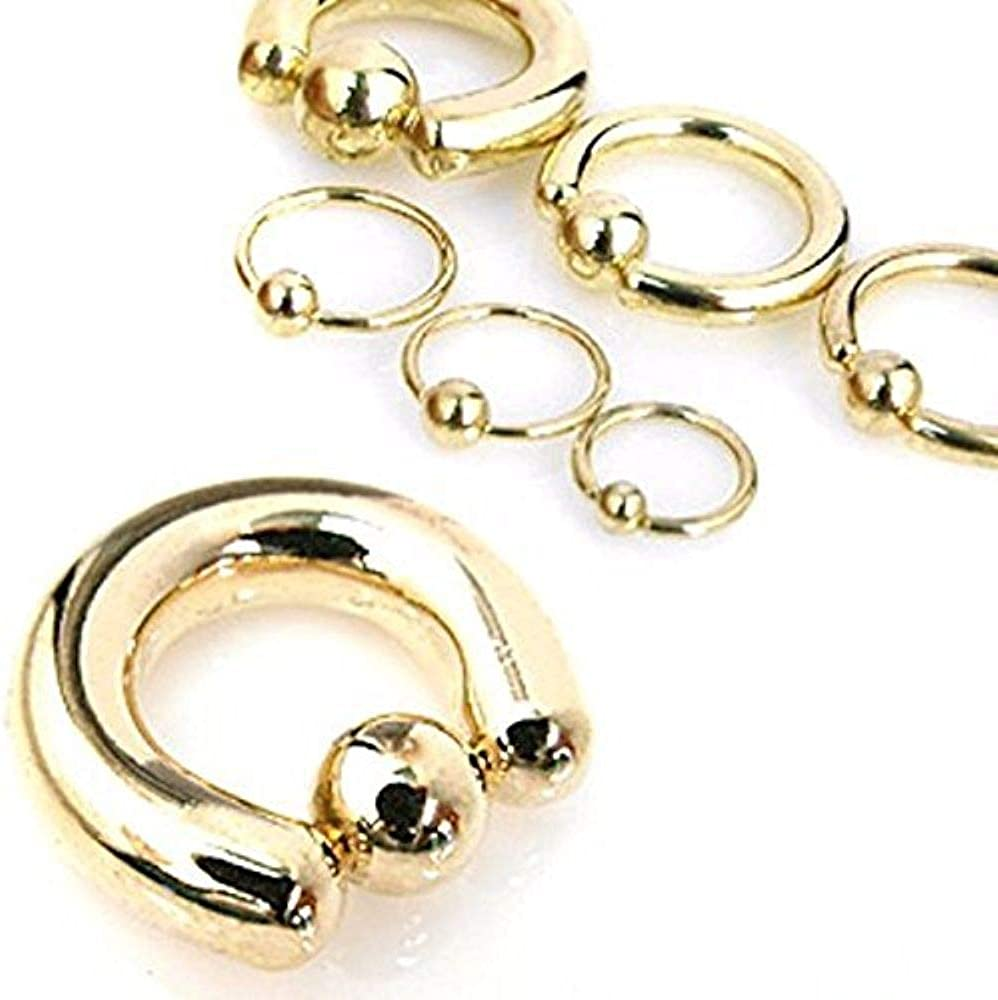 Covet Jewelry Captive Bead Ring Gold IP Over 316L Surgical Stainless Steel