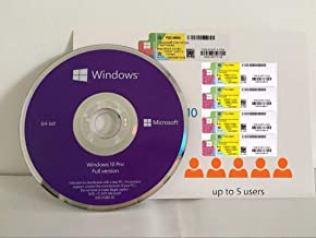 Microsoft Windows 10 Pro Online Active Key 1CD 5Code Sticker& Packing Box