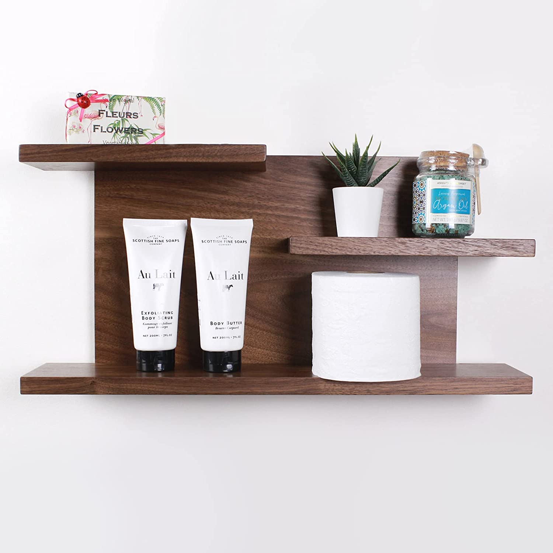 Milwaukee Mall Modern Cheap mail order shopping Bathroom Wood Floating Shelf - Shelve or Kitchen Washroom