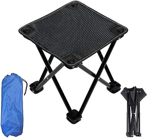 Hxx Portable léger 4 chaises et Table de Camping Pliantes - avec Un Sac de Transport pour Les Enfants en Plein air, Barbecue, randonnée, Pique-Nique, pêche, Tissu 600D Oxford avec Sac de Transport,B
