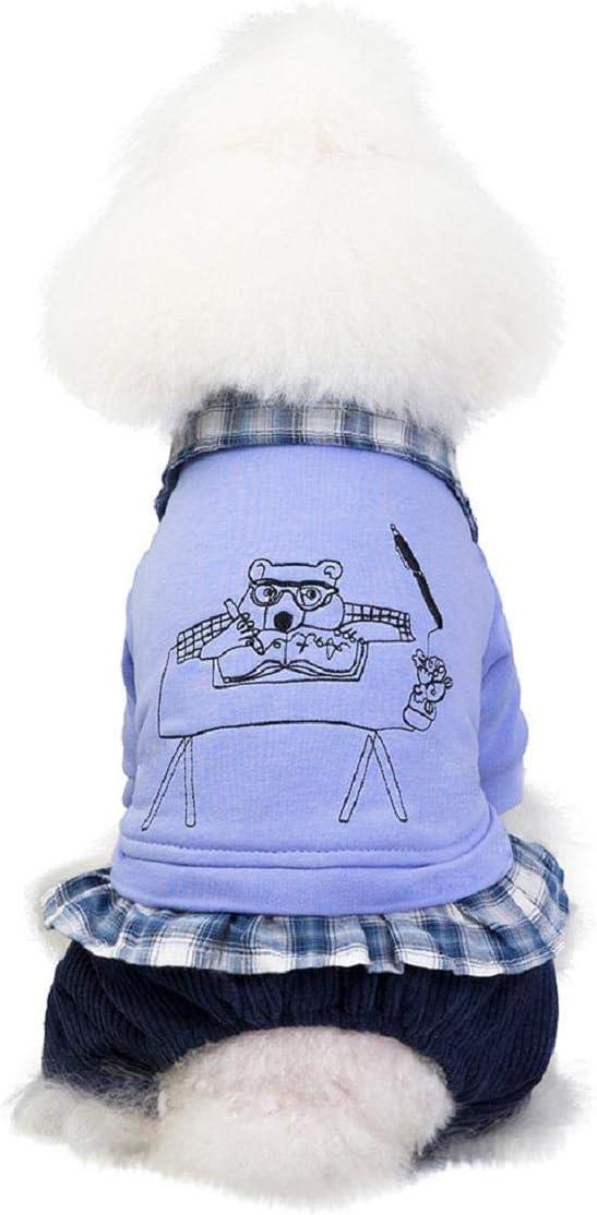 Maglione Costume Cappotto Zampe Cappottino Invernale per Cani Imbottito Caldo Antivento per Cani Koojawind Cappotto per Animali Domestici Cuccioli Vestiti Felpe con Cappuccio Gatto