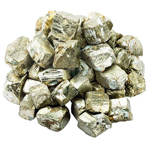 mookaitedecor Pyrit Rohstück Steine, Mineral Eisenpyrit Edelsteine für Familie/Büro/Garten/Aquarium Dekoration Schmückung, Kristall Reiki & Heilung (460g)