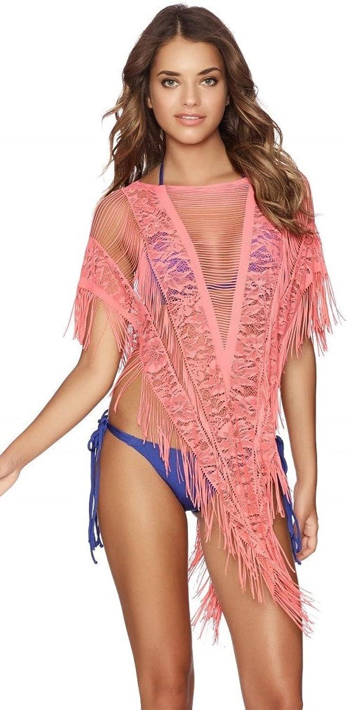Beach Bunny Swimwear Indian Summer Poncho in Lipstick Pink