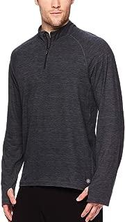 Gaiam Men's 1/4 Zip Up Activewear Pullover Shirt - Long Sleeve Running & Yoga Sweater