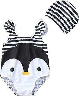 GSCH 3pcs neonate estate pagliaccetto della tuta Abiti Set con archetto Bikini costume da bagno