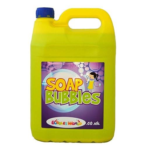 Botella de 5 litro, líquido de jabón para hacer pompas, Megaburbujas, GIGANTE BURBUJAS