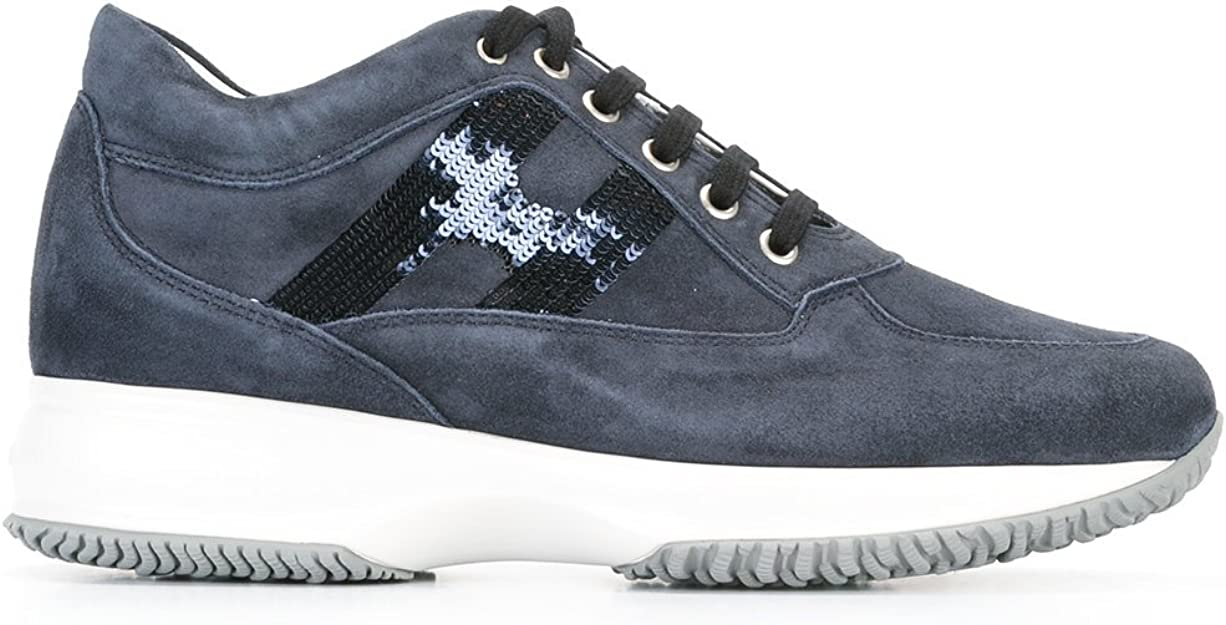 Hogan Sneakers Donna Hxw00n05641cr09992 Camoscio e paillette Blu ...