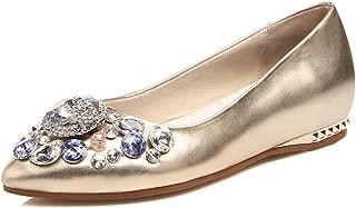 Nine Seven Women's Leather Pointtoe Flat Heel Flat