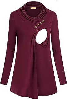 Baikea Maternity Long Sleeve Lightweight Sweatshirts Breastfeeding Nursing Tops